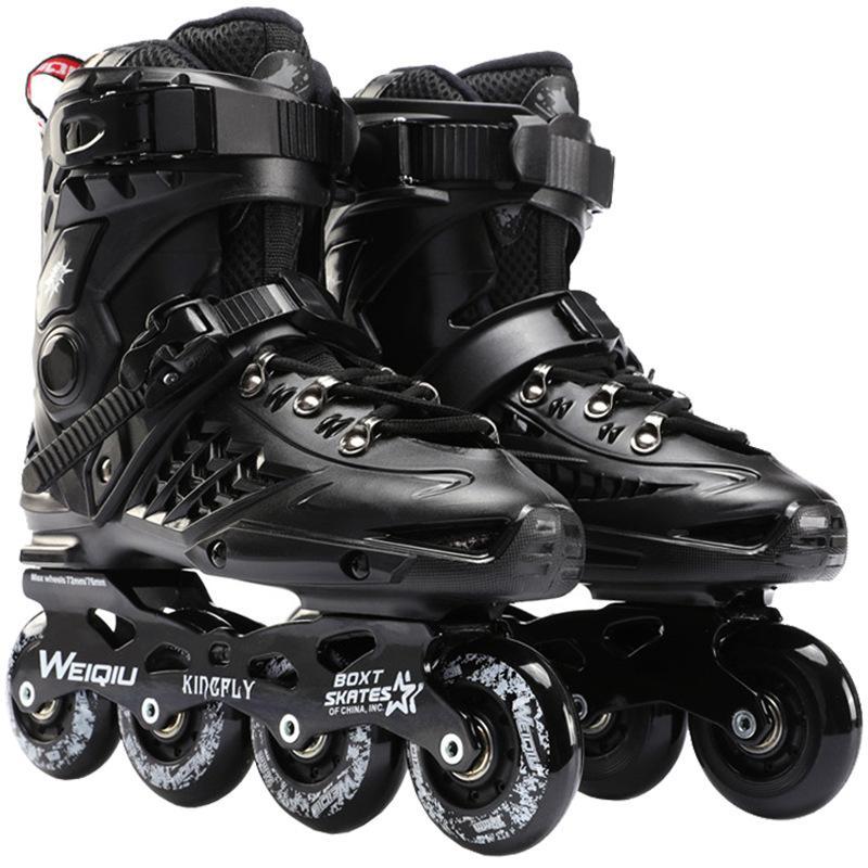 Inline роликовые коньки скорость кроссовки ролики обувь хоккей профессиональные женщины мужчины для взрослых 4-колесный сейф спорты: 35-44