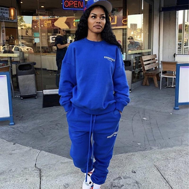 venda quente 20SS Sssenntials LA limitado Sweatpants cordão Calças elástico na cintura Homens Mulheres Moda Esporte soltos calças fitness ao ar livre