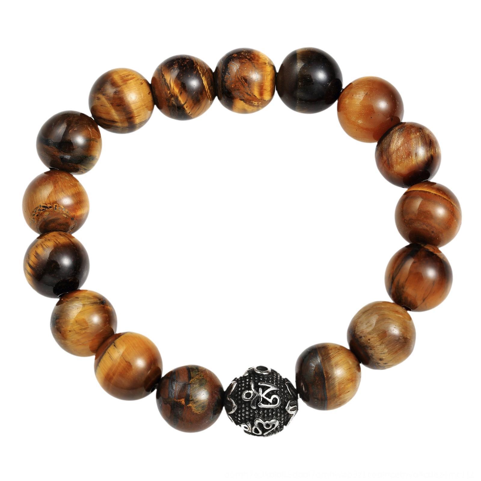 sXJrn Мода ювелирные изделия мужские и женские камень тигровый глаз Будды бисер бисера браслет вулканический камень передачи браслет