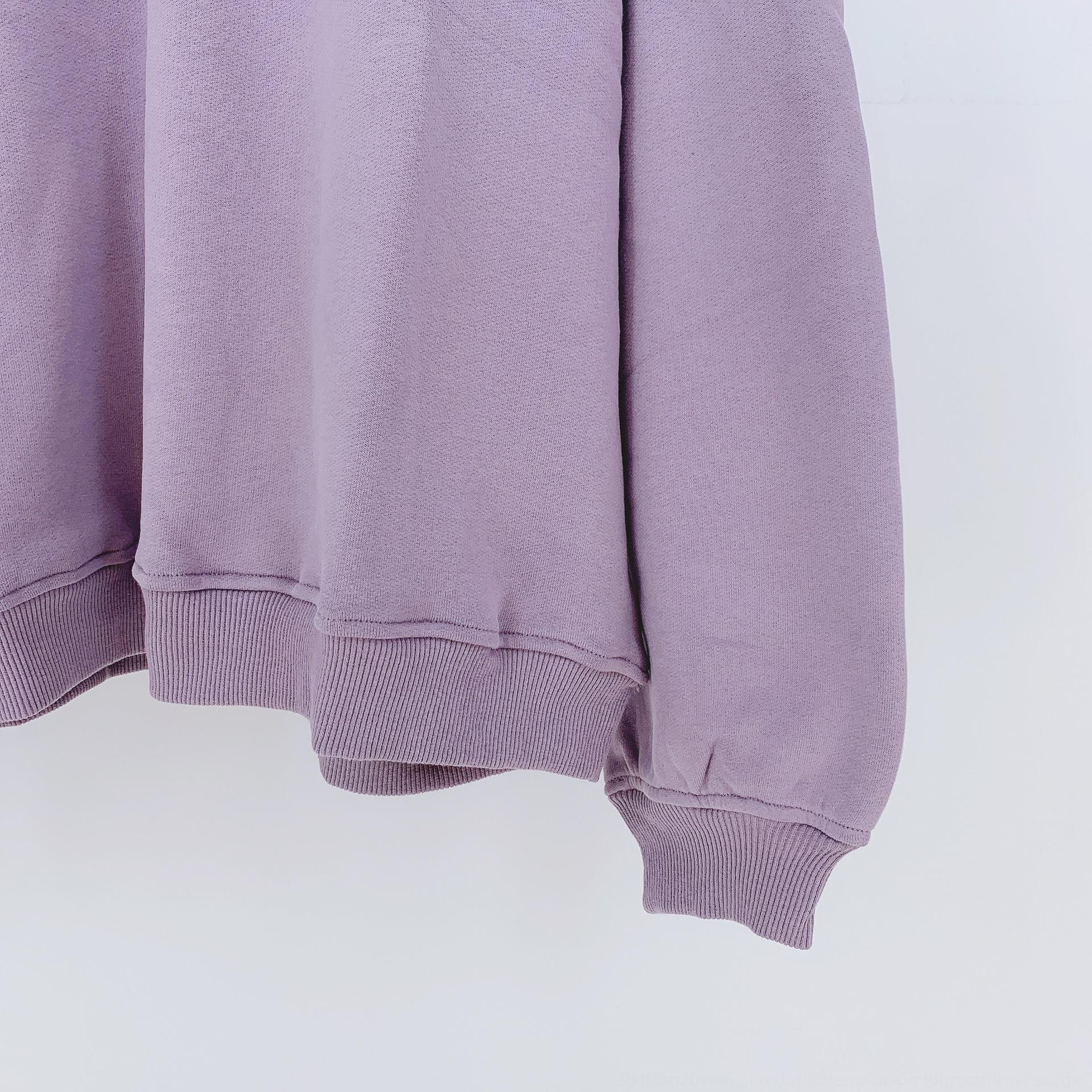 nluYh other2020OS sonbahar ve kış yeni blogger aynı gevşek kapüşonlu sweatshirt sweatshirtpurple zayıflama Üzeri other2020OS sonbahar ve kış bozulmasın
