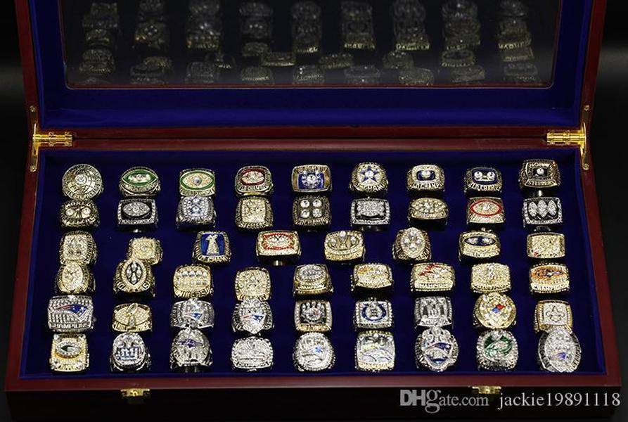 Cgjxs Оптовая 52 Чемпионат суперкубок Ring Set Free Shipping Us Размер 8 -14 #
