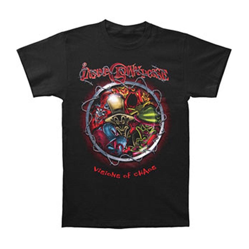 Insane Clown Posse dos homens Barb Wire T-shirt Preto RockabiliaShort Top manga da forma do T Verão Top Tee