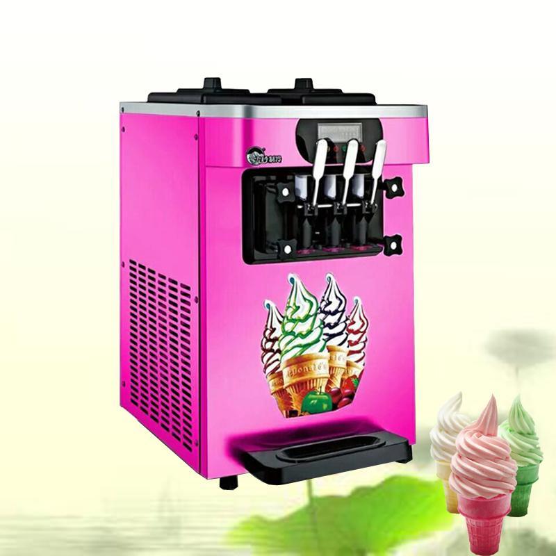 18-22L / H yogurt helado Maker con pantalla LCD Comercial Soft Serve Ice Cream Machine