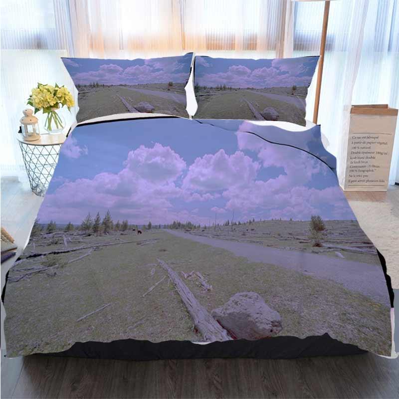 Ropa de cama 3 piezas funda nórdica Conjuntos Conjuntos EE.UU. paisajes edredón de cama edredón de cama