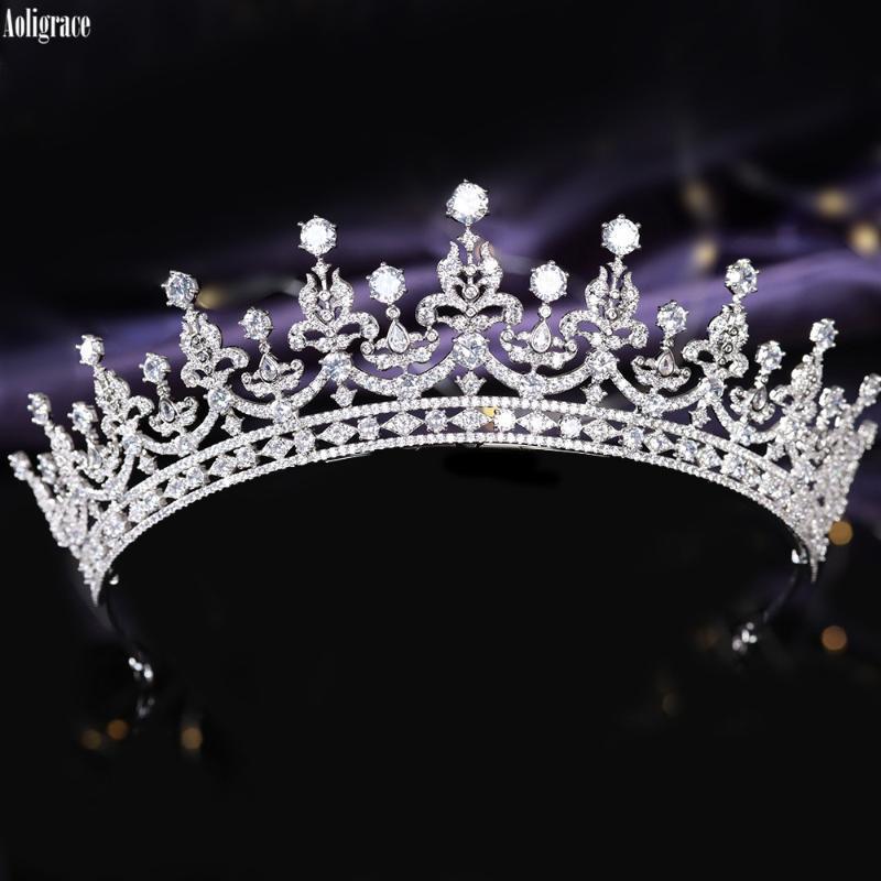 5A Livello completa zirconi classica principessa Kate Middleton regina di stile CZ diademi zircone corone spettacolo di cerimonia nuziale nuziale Diadem