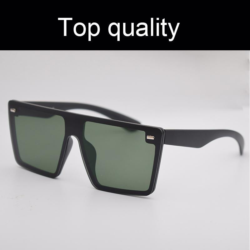 أعلى جودة نظارات الرجال النساء فرملس شقة كبيرة الحجم نظارات الشمس المتضخم للذكور