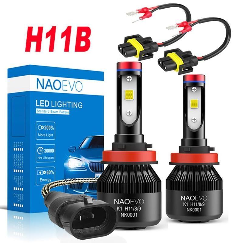 자동차 헤드 라이트 NAO H11B LED KIA Sportage 2011-2021 로우 빔 헤드 라이트 블루 12V 6000K 고품질 오토바이 램프에 대 한 LED 자동 30W 6400LM