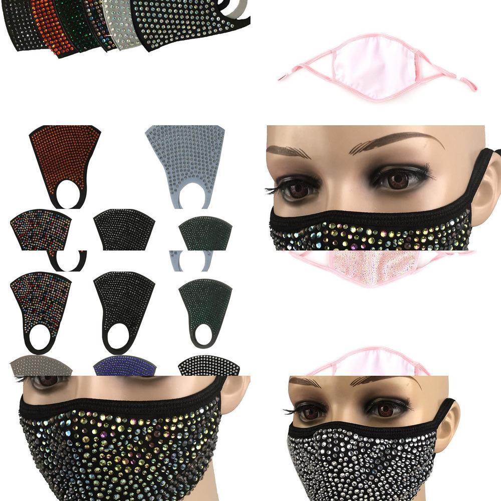 Bling bling de protection anti-poussière mode diamant Masque PM2,5 Masques bouche lavable réutilisable OXX9 FIZG1