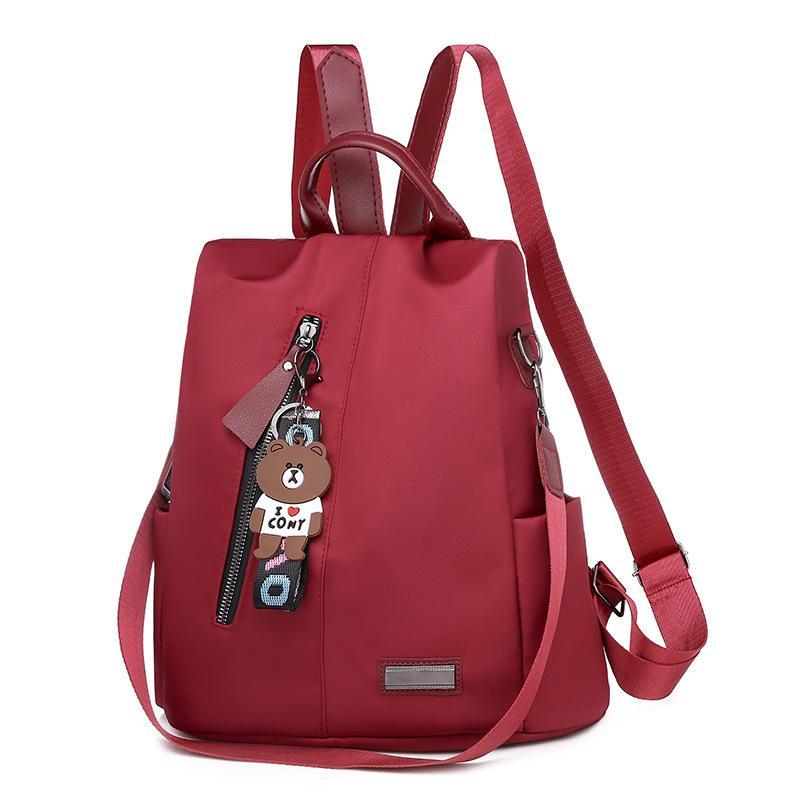020 Новый Ткань Оксфорд Рюкзак Женский корейско-Style All-матч одно плечо двойного назначения Малый рюкзак Холст Путешествия сумка сумка моды