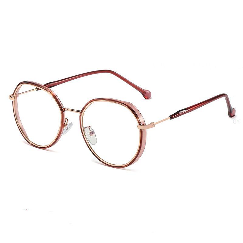 Fashion lumière rond Blocage en métal bleu optique lunettes myopie lunettes rétro femmes hommes lunettes lunettes FML Cadre 2020 ordinateur JTMXC