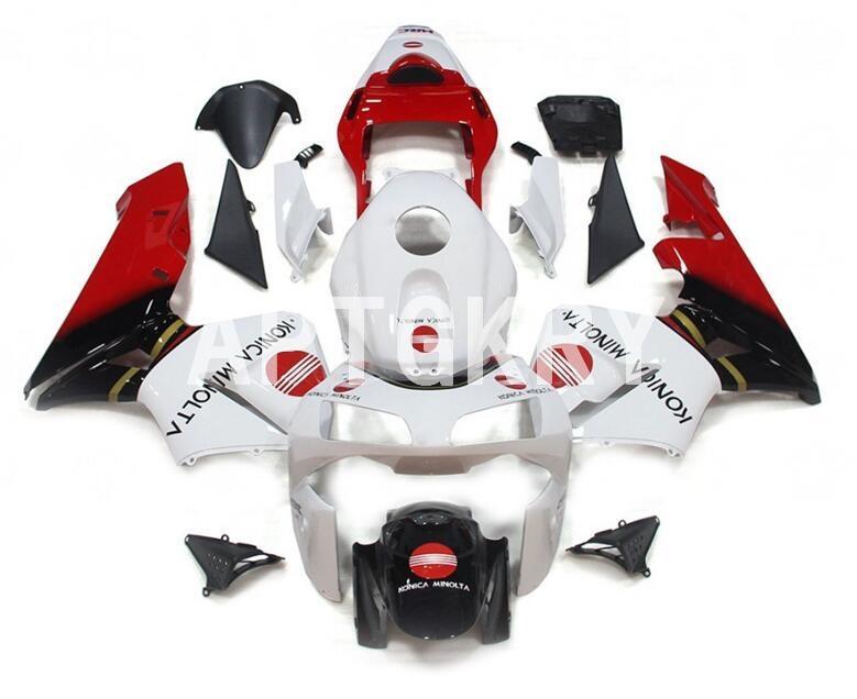 New ABS motocicleta ajuste carenagens kit para Honda CBR600RR F5 2003 2004 CBR 600RR 03 04 Bicicleta carenagem Personalizado Vermelho Branco