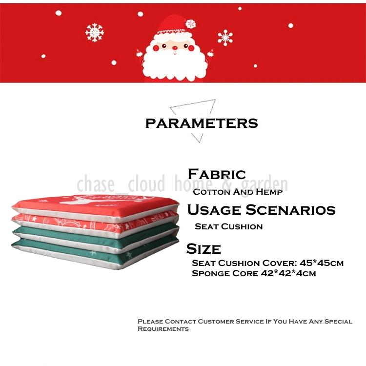 Weihnachten Esszimmer Serie: Stuhlkissen Baumwolle und Leinen Weihnachten Festliche Dekoration Druckmuster Tischmatte Doppel Dämmmatten