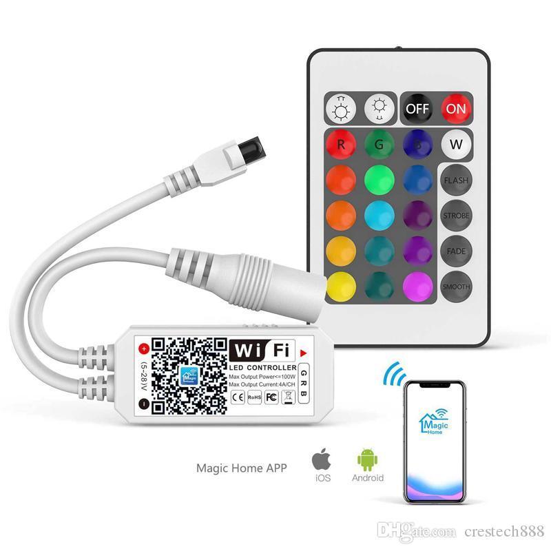 LED Şerit Işıklar için CRESTECH WI-FI Akıllı RGB Kontrolör, Daha 64 Şerit LED İşbirlikleri, Dim Renkler, Günbatımı Çalar Saat