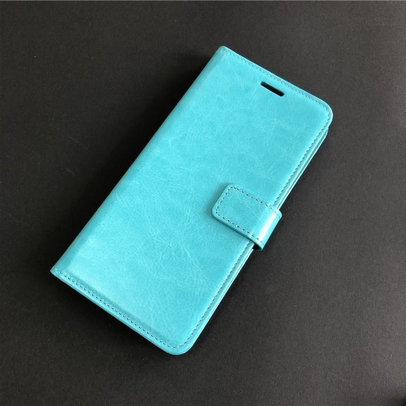 Samsung Galaxy A6 için Motorola Moto E5 Artı Crazy Horse Kapak Cüzdan Kılıf Kapak A için