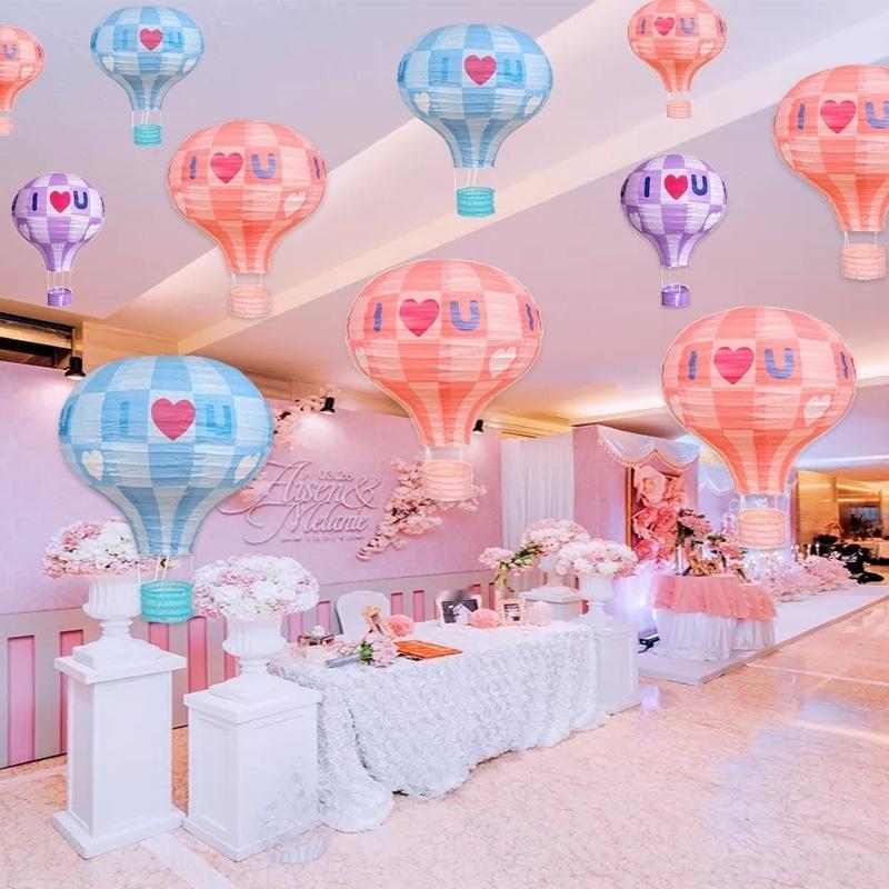 Mi-automne et national couleur lumière BalloonPendant ballon décoration ballon à air chaud jour école lanterne intérieur du centre commercial sce