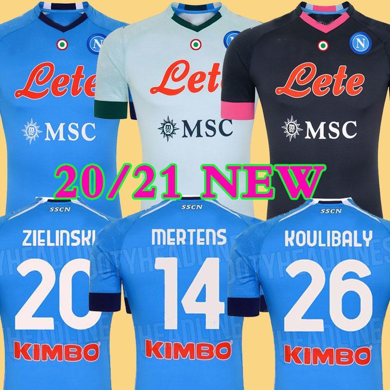 19 20 Napoli Jersey de fútbol Nápoles camiseta de fútbol 2019 2020 KOULIBALY camiseta de Fútbol INSIGNE Milik maillot de pie ALLAN MERTENS camisa