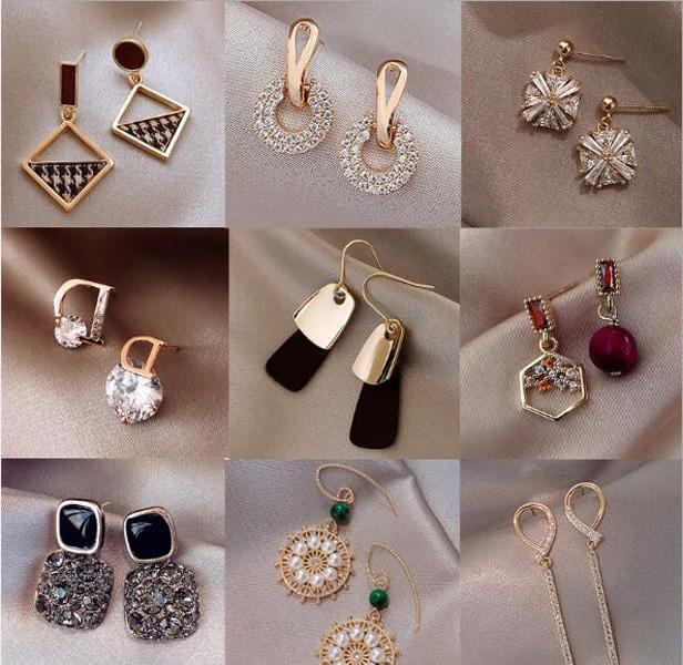 10pairs / lot Mix Style Fashion Boucles d'oreilles pour Craft cadeau Bijoux Boucles d'oreilles cadeau WA028 Livraison gratuite