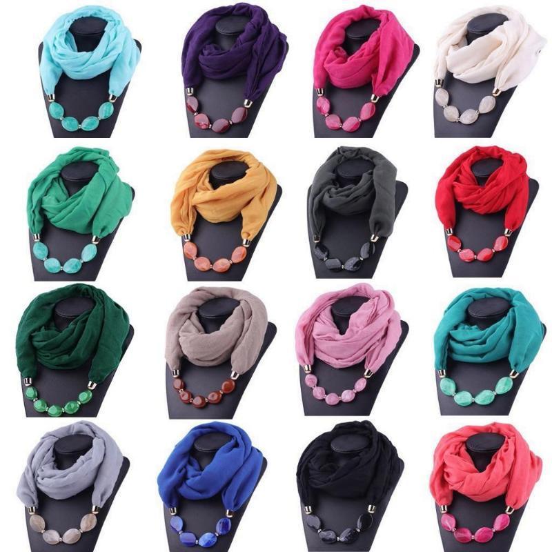 dekoratif takı kolye reçine boncuk Farklı tarzlar etnik tarzı eşarp türban kolye eşarp bayanlar yün bayan başörtüsü