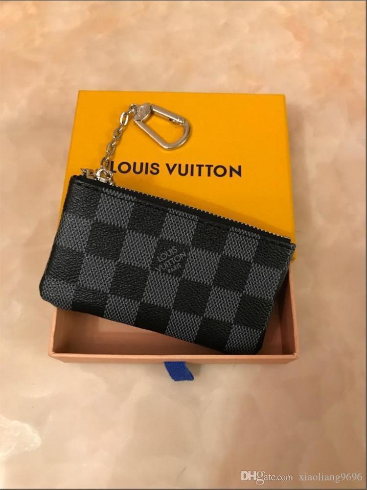 Französisch-Stil Geldbörse Männer und Frauen Luxus-Ledergeldbörse Schlüsselmappe Mini-Portemonnaie Seriennummer ist nicht Box