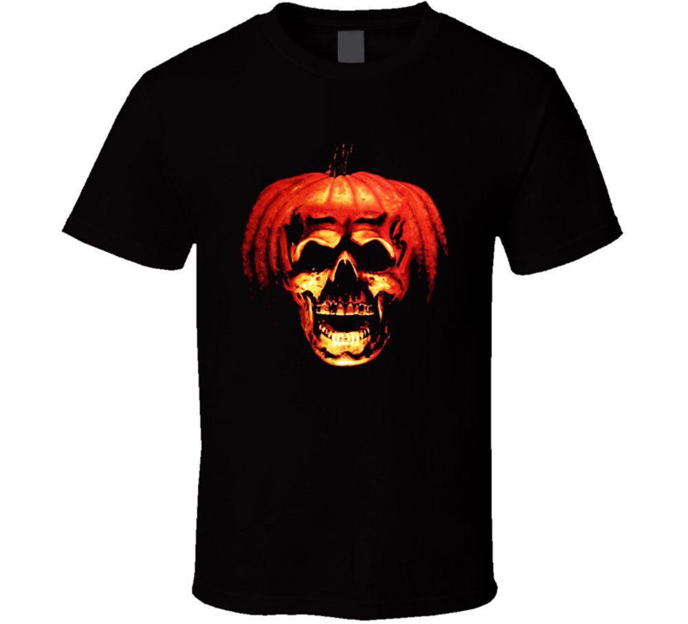 Halloween-schwarze T-Shirt Horror Slasher Film Scary Partei-Kürbis Male Designing T-Shirt-stück 2018 Fashion Short