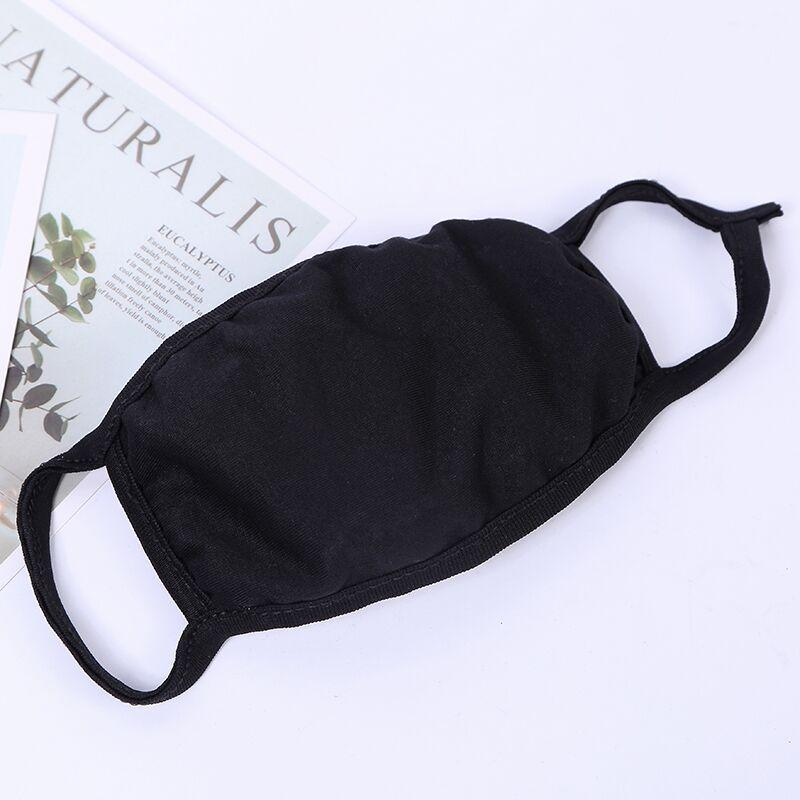 Anti-Dust Cotton Mouth Face Mask Unisex Man Woman Cycling Wearing Black Fashion Cotton Masks with OPP