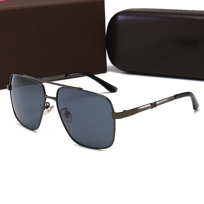 Designer Nouvelle Mode avec Ford pour homme Femme Eyewear Sun Boîte ronde Tom Verres UV400 Lentilles Square Trend 2102 Lunettes de soleil Sunglasses GSCQE