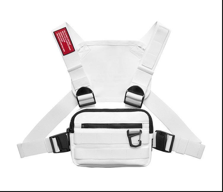 De moda en el pecho del aparejo bolsa para mujeres de los hombres al aire libre Streetwear Hip Hop Pecho Bolsas Hombres Disco chaleco táctico Plazoleta pecho Packs Nueva