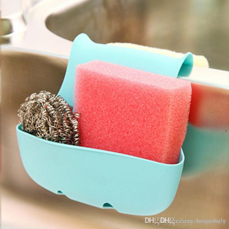 NEW Selling Plastic Double Sink Caddy Saddle Style Kitchen Organizer Storage Sponge Holder Rack Tool Draining Rack Kitchen Tools BH3817 DBC