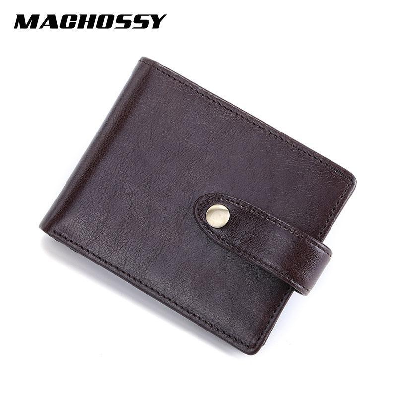 Hombre de cuero de cuero pequeño billetera genuina monedero monedero nuevo hombres monedero monedero carteras masculino para hostp lxpsh