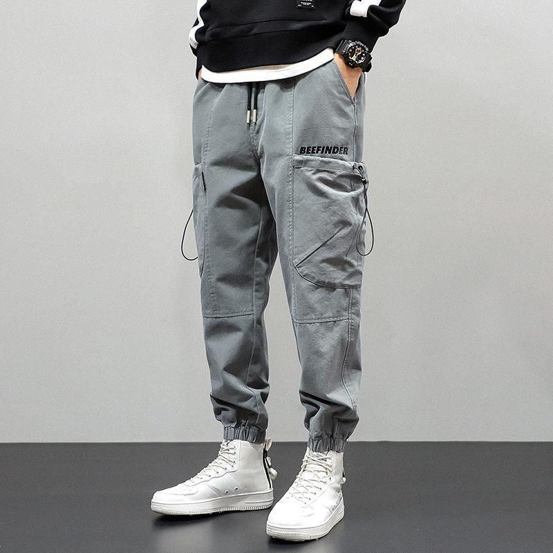 Herbst Neu Mode für Männer Jeans Loose Fit beiläufige große Tasche Cargo Pants Hombre Grün Schwarz Street Hip Hop Joggers Pants Men