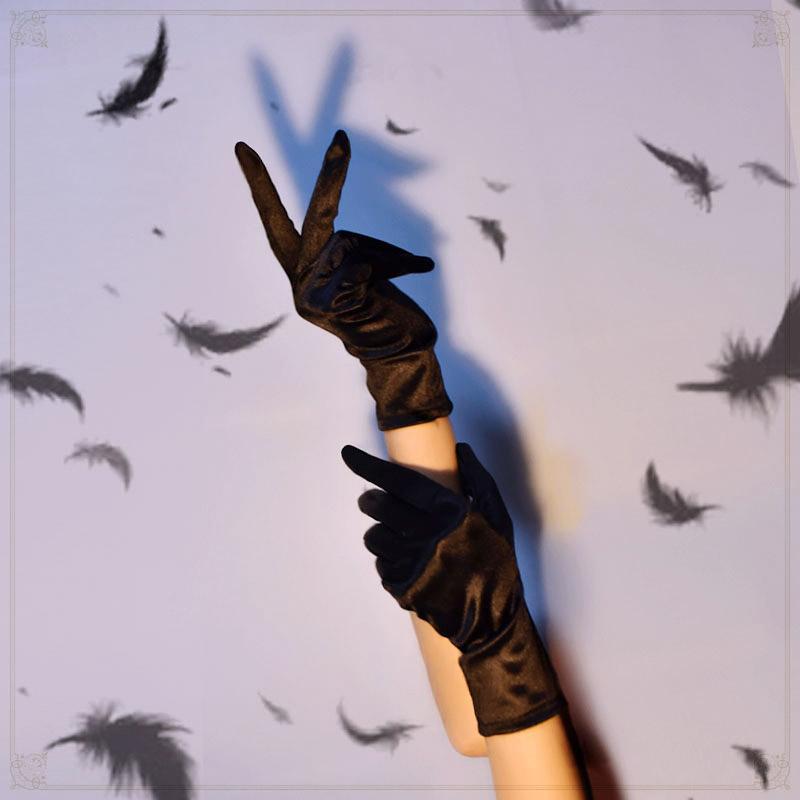 Glove Harajuku Dark Lolita Satin Gloves Girl Cosplay Steam Punk Gothic Etiquette Match Goth Steampunk Accessories