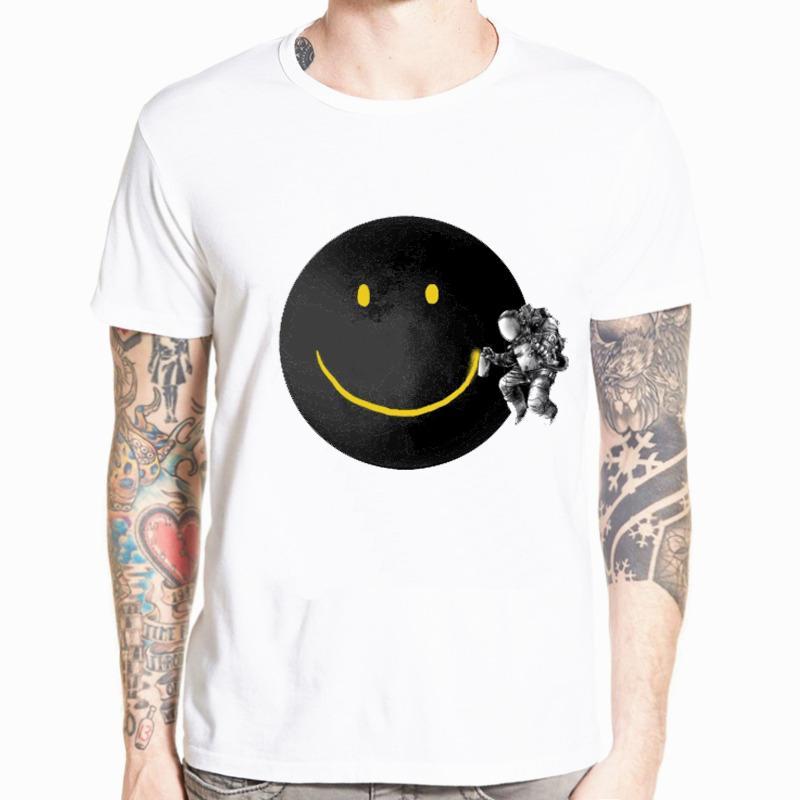 Nouveau T-shirt d'été en vrac Lune Imprimer Hommes T-shirt décontracté court Sleever Homme T-shirt des hommes T-shirt t-shirt drôle T-shirts 5XL