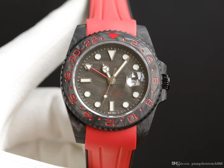 Reloj de lujo Изумрудный светлый углеродное волокно, полностью 2836 Движение, Sapphire Antry strate Mirror, оригинальные дубовые ленты Backlecustom размеры AC AC