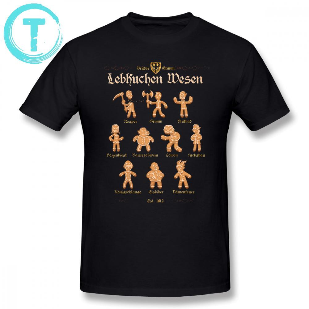 Grimm T Shirt Grimm Gingerbread T-shirt manga curta impressionante camiseta básico dos homens 5x Algodão Imprimir T-shirt