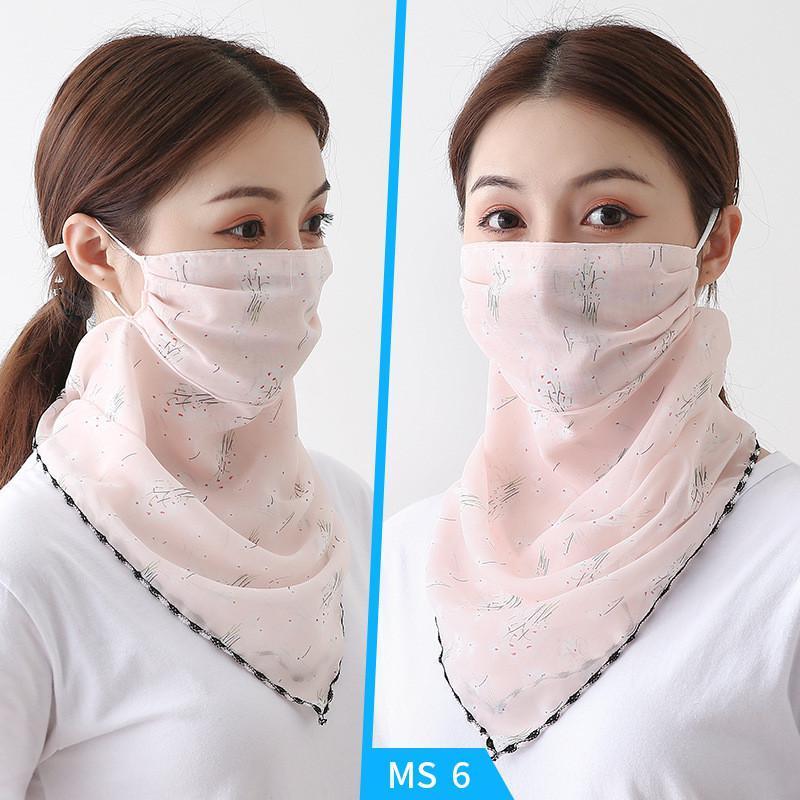 امرأة أقنعة ظلة وشاح الشيفون الحجاب السيدات الصيف أزياء الشاطئ عمامة أقنعة الغبار الحجاب 45 أنماط DHD297