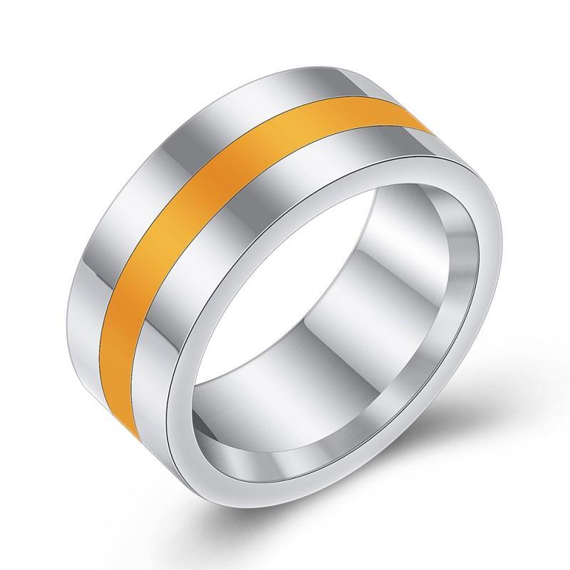 2020 Fine Jewelry ювелирных изделий Мужчина Кристалл Сваровский из простых и Лучших продаж нержавеющей стали эпоксидного кольца 3 цвета Fit женщины