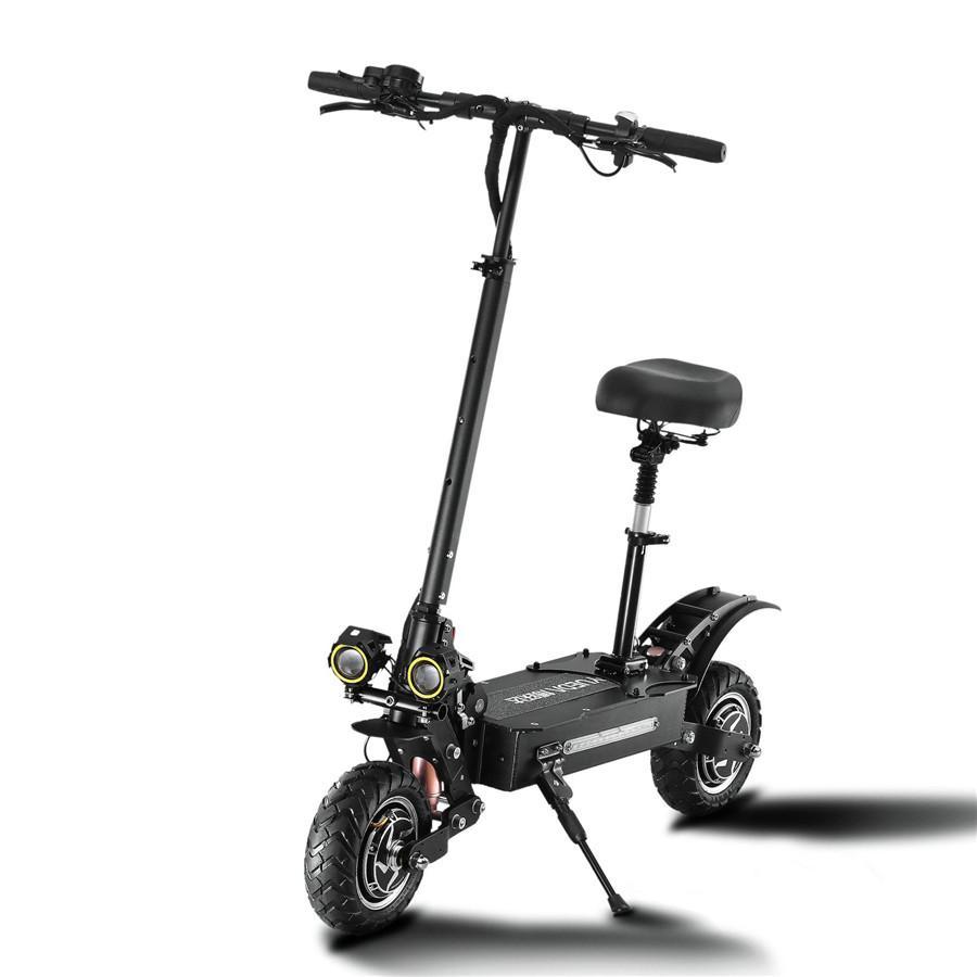 Scooter eléctrico para adultos 2400W de Moter rápido plegables Eletrick scooters con los asientos, ruedas grandes, Velocidad máxima 60 km / h, pantalla LCD