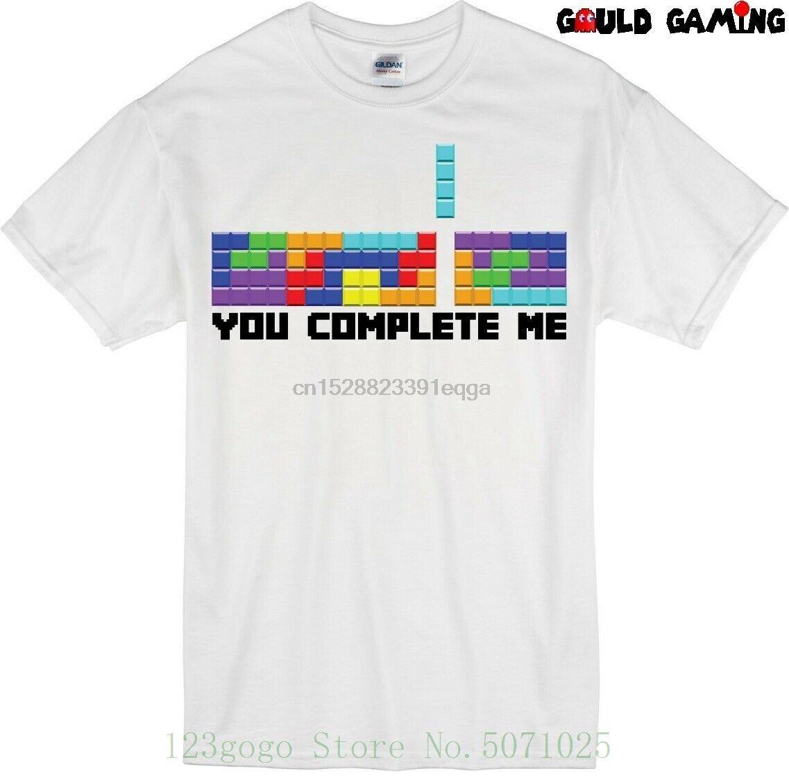 Tetris Sen Komple Me Tişörtlü Unisex Pamuk Komik Boyutları Sevgililer Günü Bulmaca Genç Adam Marka Tişörtlü Anime Moda