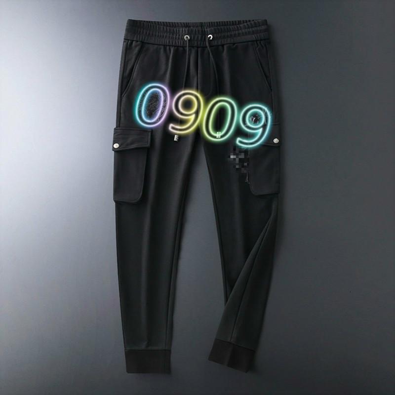 Di alta qualità uomini pantaloni casual 2020 autunno e l'inverno di nuovo modo di piccoli piedi pantaloni di sport puro cotone pantaloni di tendenza 66G0991