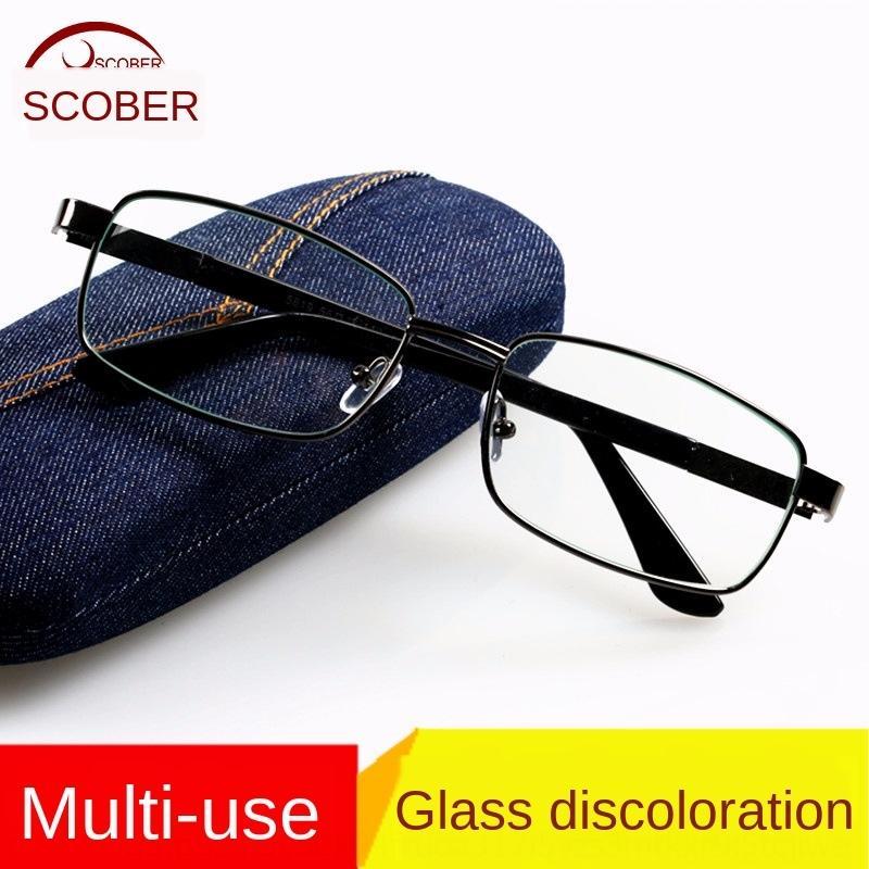 L6iS3 bilgisayar düz gözlük Renk değiştiren güneş Erkekler rüzgar geçirmez gözlük cam çay gri düz gözlük erkek güneş gözlüğü bitmiş