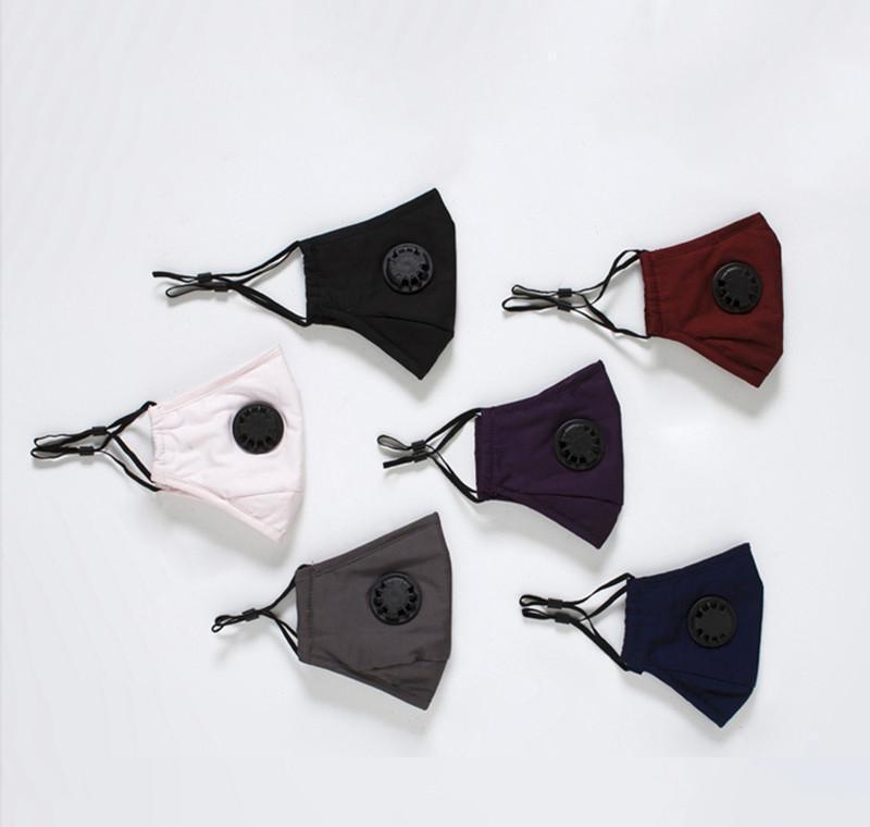 и маска Многоразовый 2 Free дышащий с Пылезащитно лица Мужчины моды клапан фильтра Маски Штук Женщины двойной защиты дыхания для Home2009