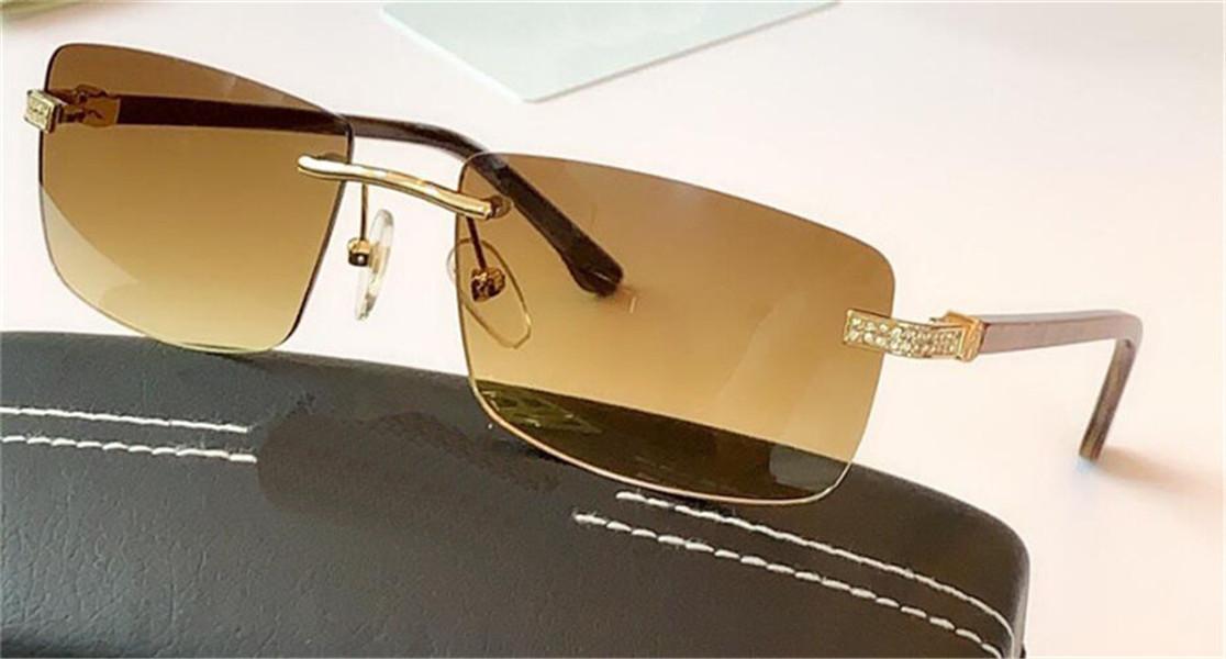 Novo design de moda óculos óculos de sol Z1097 sem moldura quadrada cabeça pilha projeto do diamante high-end exterior UV400 óculos de proteção