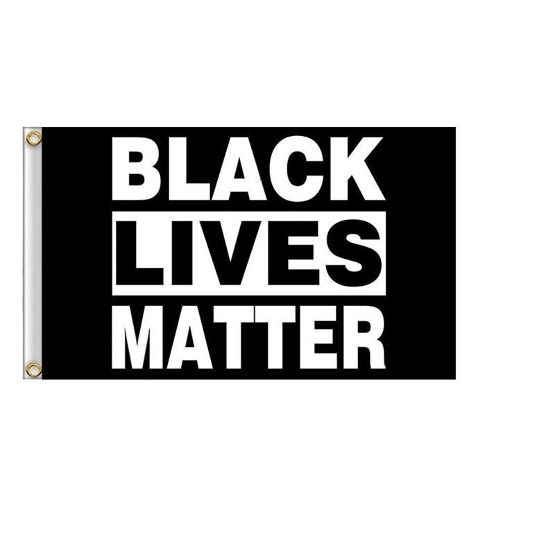 Materiali Nero vite Materia Flag per BLM Pace Protesta Outdoor Banner Bracciale 777