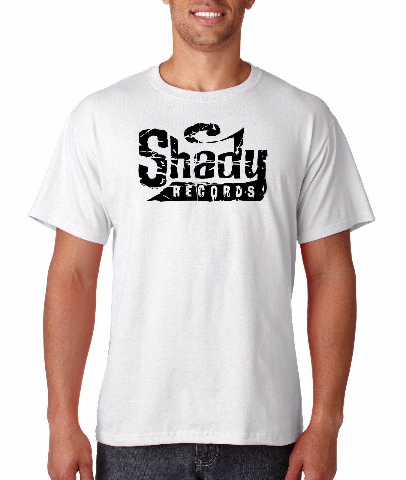 Shady Records Logo T Shirt Hip Hop Rap Slim Shady Eminem Detroit Revival Emcees Top Quality camisetas Homens O Neck top tee