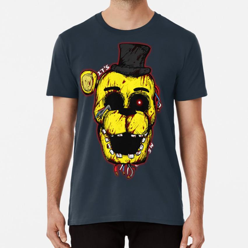 Freddy ensanglantées d'or FNAF T-shirt cinq nuits freddys or freddy bonnie Foxy chica Kawaii sanglante