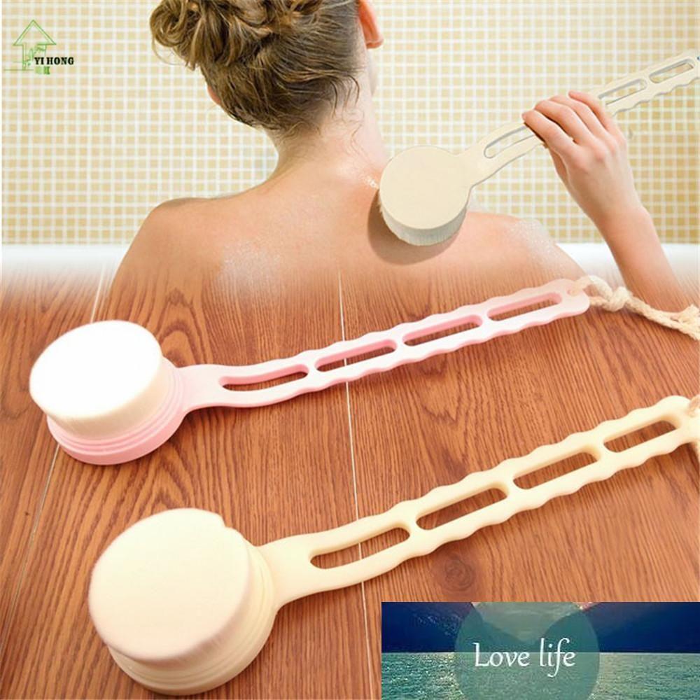 Escova Voltar YI HONG SPA purificador aperto massageador de banho Longo punho macio Fibra Bath Corpo Duche