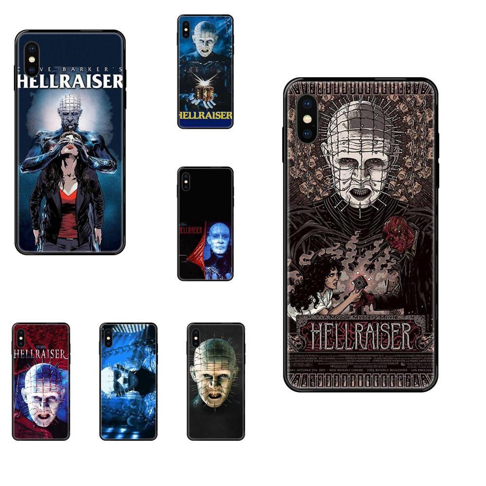 Tpu Soft Black Phone Case pour iPhone Hellraiser 11 12 Pro 5 SE 5C 6 5S 6S 7 8 X 10 XR XS Plus Max