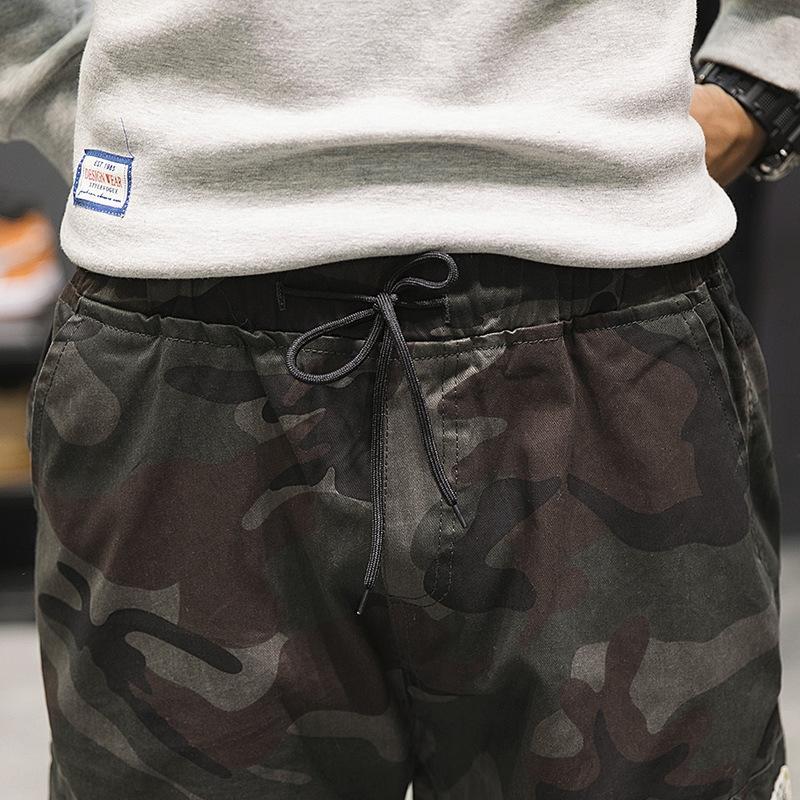 GK8sj 2020 весной и осенью новый свободные леггинсы корейский стиль мужской плотный Повседневный камуфляж модный спортивный оборудуя случайные брюки камуфляж мужчин»