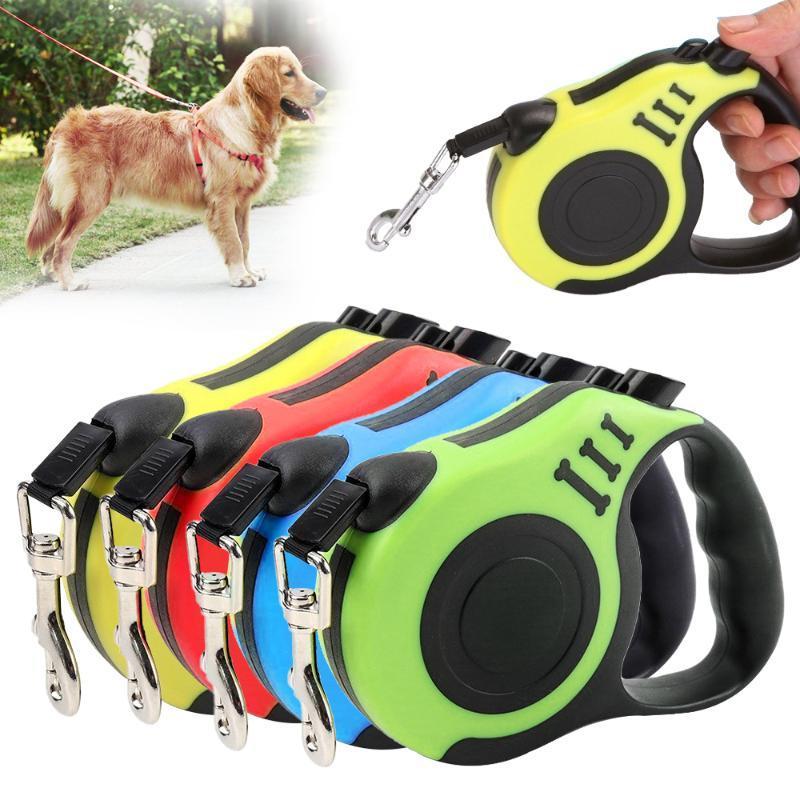 Küçük Orta Dogs For 3M / 5M geri çekilebilir köpek tasma Otomatik Esnek Köpek Tasmalar Pet Köpekler Kedi Traction Halat Kayışlar