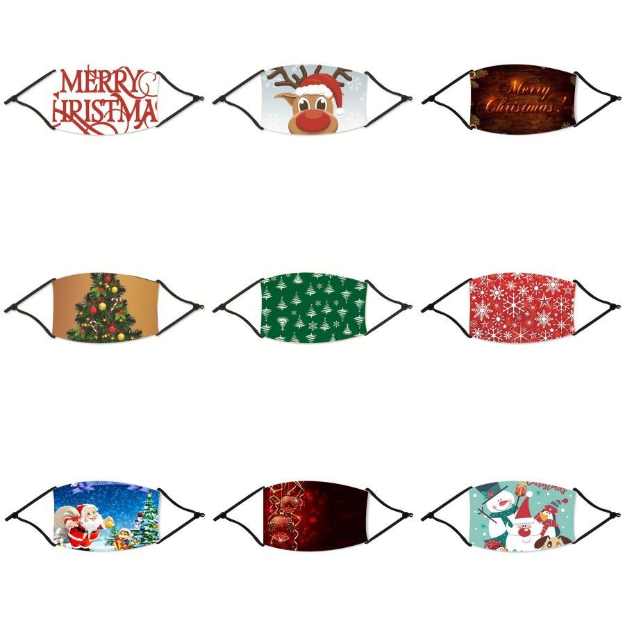 FaceChristmas Maskenfilter Mundventil Black Cotton-Antistaub-Rosa Gesicht Weihnachten Maske Schutz Weihnachten Maske Mode Waschbar Wiederverwendbare # 185